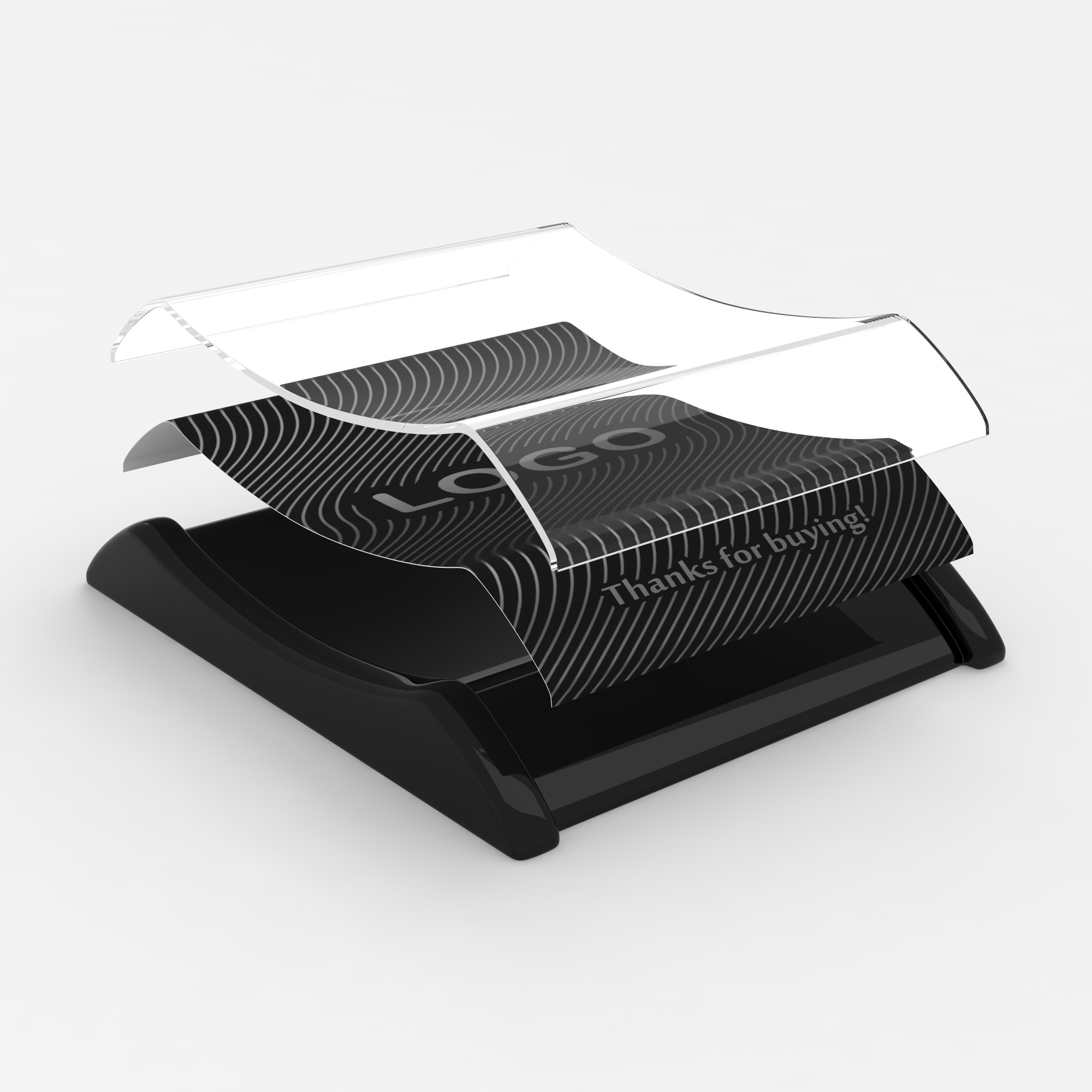 Plastic cash tray Black