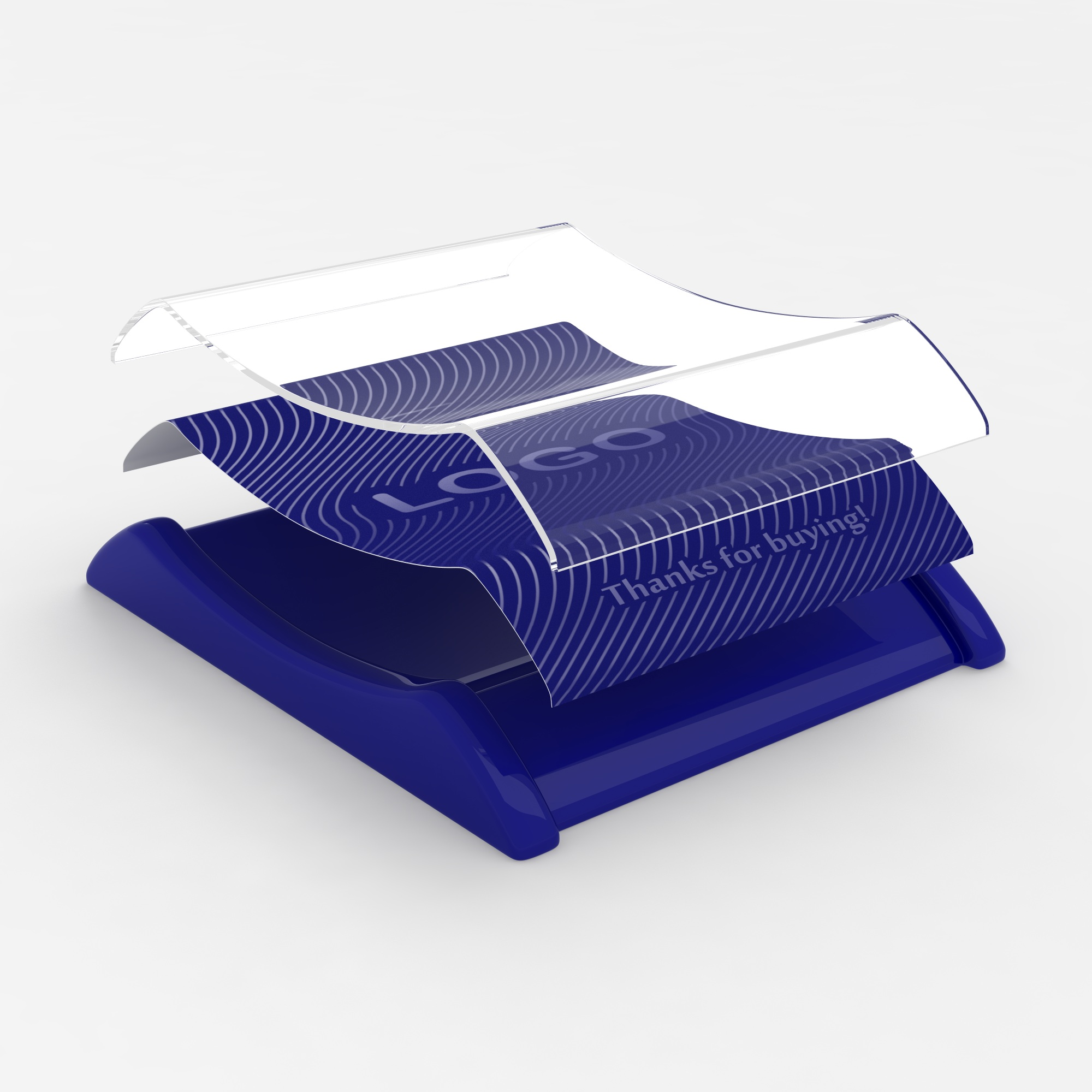 Plastic cash tray Blue