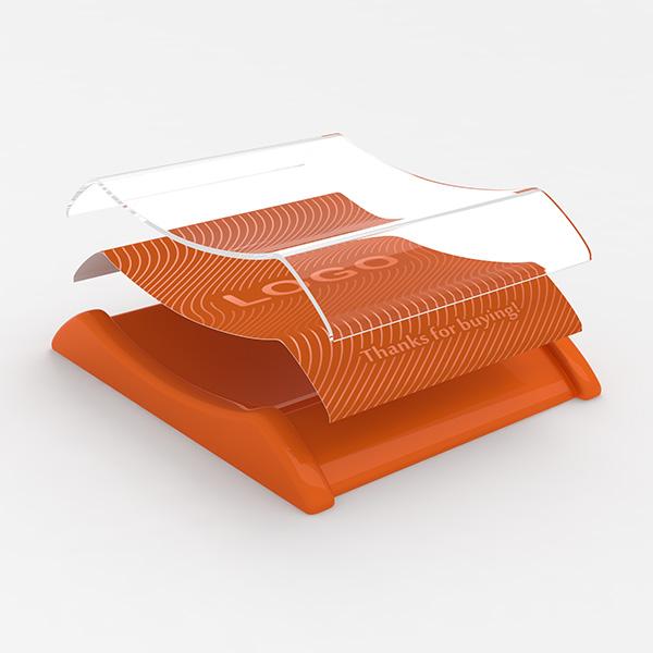 Plastic cash tray Orange