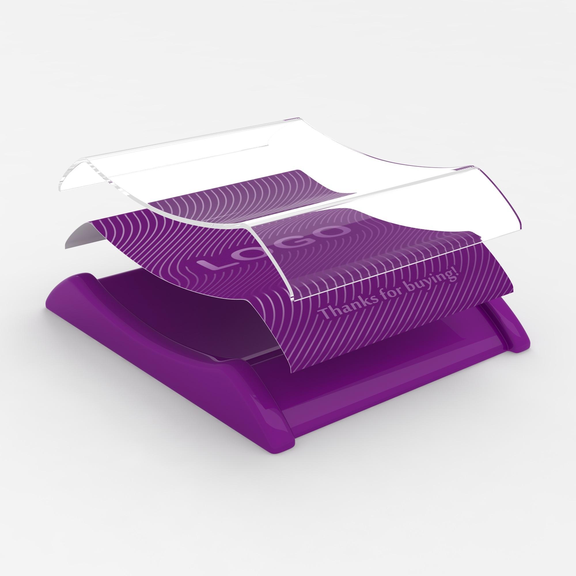 Plastic cash tray Violet